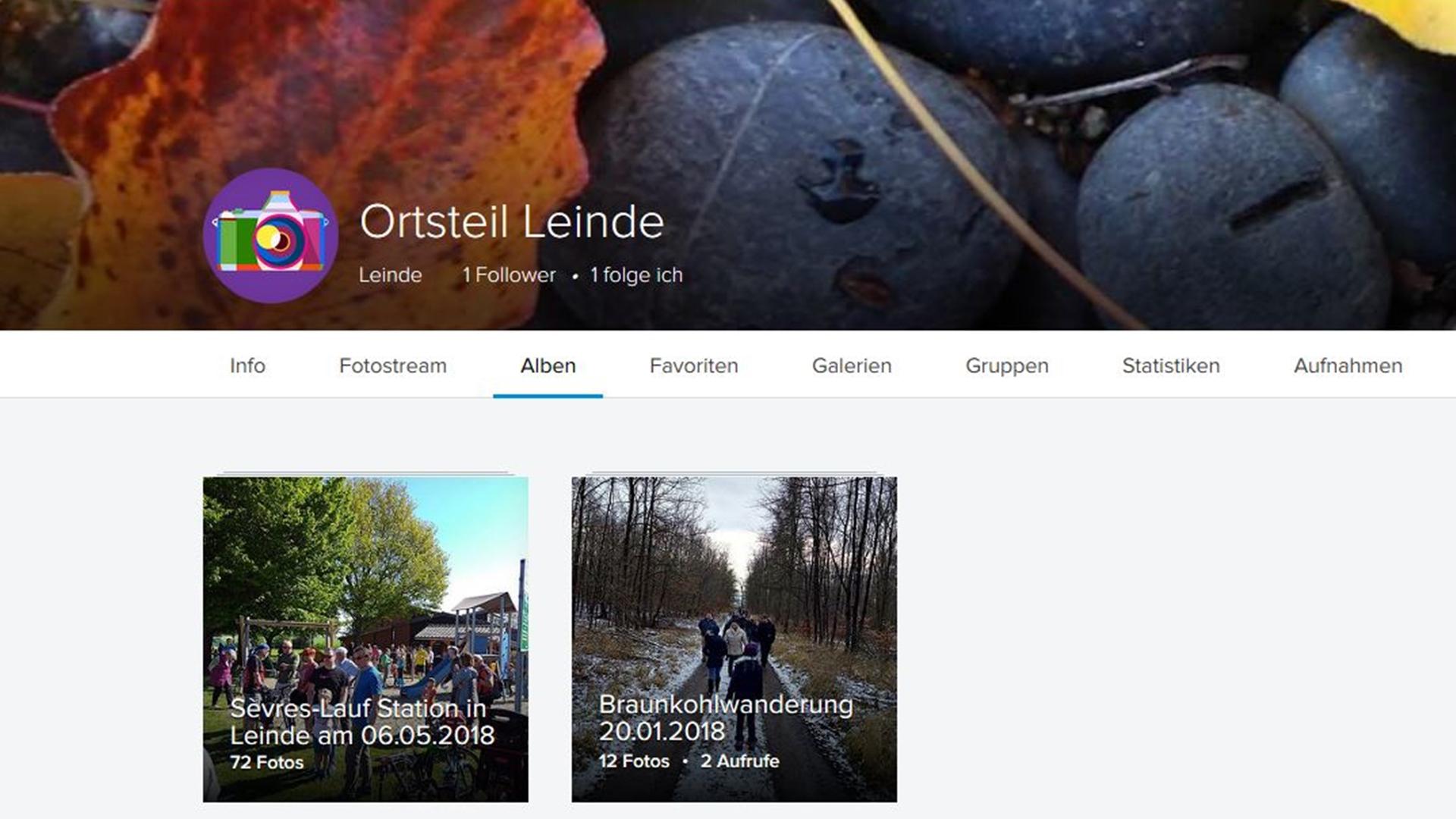 Flickr-Alben Leinde